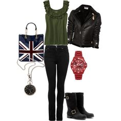 Ninth Doctor - Casual Female style, created by enzyyme on Polyvore