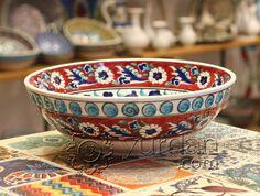 Iznik Design Ceramic Bowl
