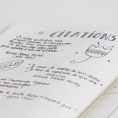 """87 mentions J'aime, 6 commentaires - Stéphanie (@creeretc) sur Instagram: """"Dans mon bullet journal j'ai une page pour noter toutes les citations qui me tombent sous la main…"""""""