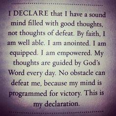 From Joel Osteen's 'I Declare' devotional book