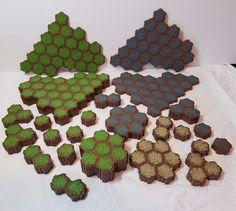 61 Heroscape Rock Sand Grass Hexagon Hex Terrain Land Tiles Game Expansion Lot #WizardsoftheCoast