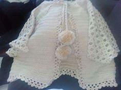 Casaco em crochet.