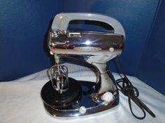 Vintage Hamilton Beach Model H Mixer / Vintage Mixer / Hamilton Beach / Mixer / Hand Mixer / Chrome / Nickel Mixer / art deco by Montyhallsshowcase on Etsy
