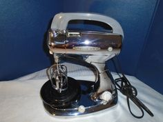 Vintage Hamilton Beach Model H Mixer / Vintage Mixer / Hamilton Beach / Mixer / Hand Mixer / Chrome / Nickel Mixer / art deco by Montyhallsshowcase on Etsy