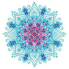'Handpainted Watercolor Mandala' Canvas Print by aterkaderk Mandala Design, Mandala Art, Watercolor Mandala, Mandalas Drawing, Mandala Tattoo, Mandala Painting, Painting & Drawing, Zentangles, Wow Art