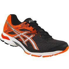 Asics Gel Flux 4 Running Shoes - Mens Black Silver Hot Orange