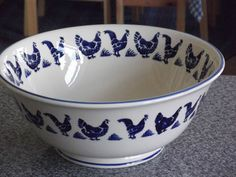 Emma Bridgewater BLUE HENS salad bowl