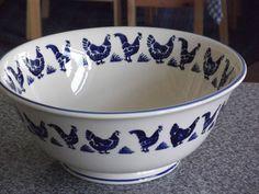 Emma Bridgewater BLUE HENS salad bowl
