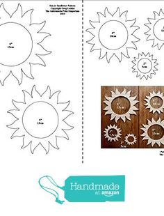 'Sun / Sunflower' A Fantastic Full Size Scroll Saw Pattern For Crafters from The Andromeda Print Emporium https://www.amazon.co.uk/dp/B01MA1VB67/ref=hnd_sw_r_pi_dp_W2n.xbGWPNGNE #handmadeatamazon