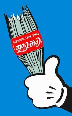 Aggressive ..... Coca cola / Mickey mouse