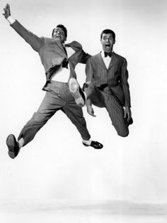 Jumping Jacks Dean Martin Jerry Lewis 1952 Jumping One of my fav old time classic films Jerry Lewis, Dean Martin, Classic Hollywood, Old Hollywood, Philippe Halsman, Cinema, Dynamic Poses, Oldschool, Action Poses