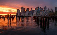 New York Sunset Luminar