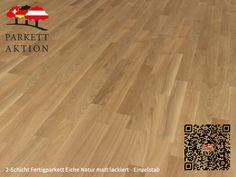2-Schicht Fertigparkett Eiche Natur matt lackiert - Einzelstab Format: 490 x 70 x 11 mm Hardwood Floors, Flooring, Texture, Crafts, Wood Floor Tiles, Surface Finish, Wood Flooring, Manualidades, Handmade Crafts