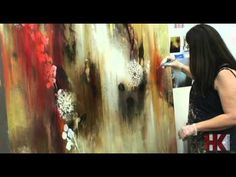 Jennifer J. L. Jones - Painter - YouTube...floral acrylic and wanes in acrylic