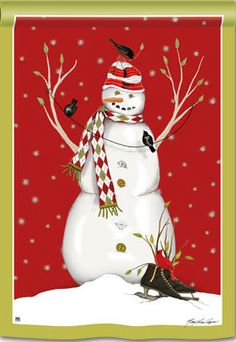 Argyle Snowman decorative house flag - flagsrus