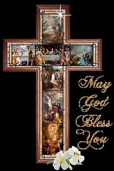 Glitter Graphics: May God Bless You. Pictures Of Jesus Christ, Religious Pictures, Christian Quotes Images, God Bless You, Glitter Graphics, Blessed Mother, God Jesus, Christian Art, Gods Love