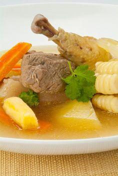 Sancochado Peruvian Dishes, Peruvian Cuisine, Peruvian Recipes, Good Food, Yummy Food, Puerto Rican Recipes, Latin Food, Spanish Food, Soups And Stews