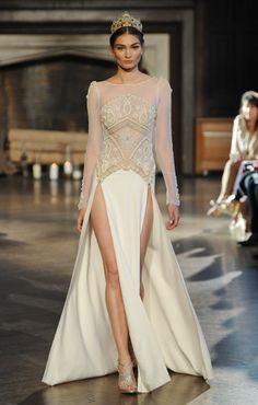 Leggy Double-Slit Dress from Inbal Dror | 17 Sexy Wedding Dresses That Rocked the Runways