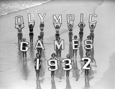 Bathing beauties promote the 1932 Olympic Games in Los Angeles.