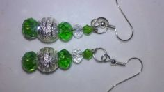 Frosty Lime drop earrings by EisbrenacDesigns on Etsy