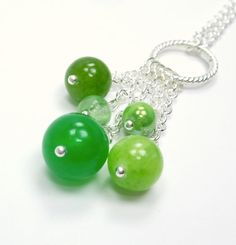 Sprout Collection  Green Quartzite Dyed Jade Glass by TheEboutique, $26.00