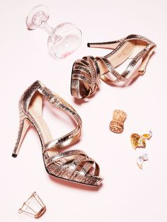 Ginger Snake Snake Embossed Leather Sandal by kate spade new york shoes at Gilt