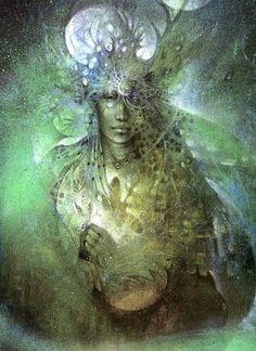 by Susan Seddon Boulet. Wild Woman, Earth Mother, Goddess of the Wild Places. Boris Vallejo, Spirit Art, Illustrations, Illustration Art, Art Visionnaire, Art Aquarelle, Goddess Art, Green Goddess, Wow Art