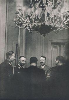 Reinhard Heydrich, Heinrich Himmler, and Adolf Hitler in Prague, 1939