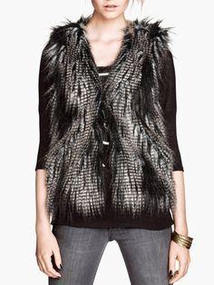 Luxury Fuzzy Fashion Short Faux Fur Vest Coats For Women