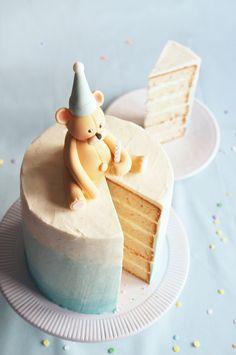 Sugary & Buttery - 6-Layer Vanilla Bean Birthday Bear Cake