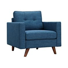 Graham Armchair in Blue | dotandbo.com living by fireplace or as accent in house