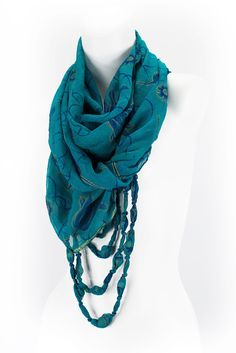 Eternal Beaded Scarf (Handmade in India) - $30.00  http://workofworth.org/products/eternal-beaded-scarf-mixed-berry