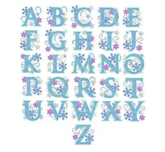 Ice Princess Alphabet Frozen Applque Embroidery by EmbroideryLand, $22.90