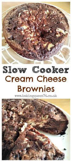 Slow Cooker Cream Cheese Brownies