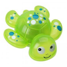 The Blink & Float Turtle is a water-activated bath toy that lights up when you place it in water.