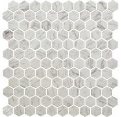 "View the Daltile UP23-1HEXMS1P Glass Carrara Floor Tile - 1"" X 1"" Sold by sheet (12"" x 12"") at Build.com."