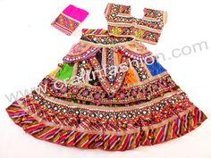 Multi Coloured Sanedo Chaniya Choli With Kutchi Traditional Work- Chaniya choli. Garba Dress, Navratri Dress, Garba Dance, Navratri Garba, Hippie Gypsy, Hippie Style, Bohemian Style, Ghaghra Choli, Belly Dance Skirt