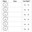 This is the handout that I use when teaching the sense of touch. I had different balloons with various items inside of each one. The students had t...