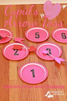 Valentine's Day Game: Cupid's Arrow Toss - would be fun both for home or classroom!