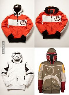 I want these Star Wars hoodies!