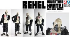 "1:6 THREEA TOYS THREEA Adventure Kartel Rehel (Ashley Wood Design) 12"" figurines"