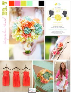 summer, flourescent, yellow, mint, poppy red, spring, inspiration board, story, coral, unique