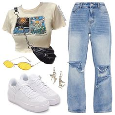 Me gusta, 21 comentarios - 𝘃𝗶𝗿𝘁𝘂𝗮𝗹 𝘀𝘁𝘆𝗹𝗶𝘀𝘁 Cute Swag Outfits, Cute Comfy Outfits, Edgy Outfits, Retro Outfits, Vintage Outfits, Teen Fashion Outfits, Look Fashion, Girl Outfits, Swag Fashion
