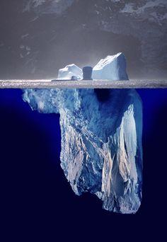 Iceberg above and below