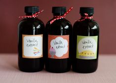 Homemade Vanilla Extract recipe - When you bake often, you go through a lot of vanilla.  Pure, high quality vanilla is expensive.  I would go through a bottle almost every other week.  When I saw that how easy it was to make my own vanilla, I decided that I would try it out.  I found a nice bottle, bought some vanilla beans in bulk, a bottle of vodka, and invested about 10 minutes of my time. #foodgift #vanilla #homemade