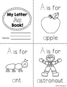 My Letter A Book Coloring Page from TwistyNoodle.com