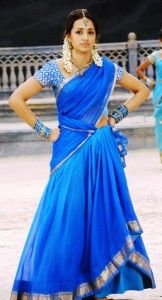 Trisha in half saree
