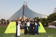 cool World's Largest Tennis Ball Mosaic in Dubai
