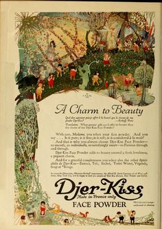 Djer-Kiss 1919 Vintage Makeup Ads, Vintage Beauty, Vintage Ads, Art Deco Illustration, Heart Illustration, Propaganda Art, Fairytale Art, Sketchbook Inspiration, Learn To Paint