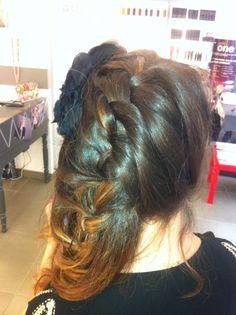 Messy braid for wedding